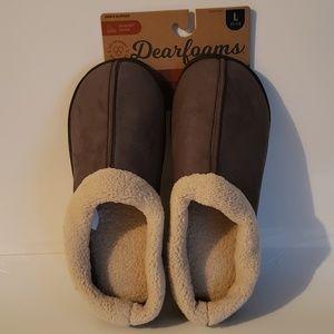 Men's Dearfoam Dark Grey Slippers L(11-12)